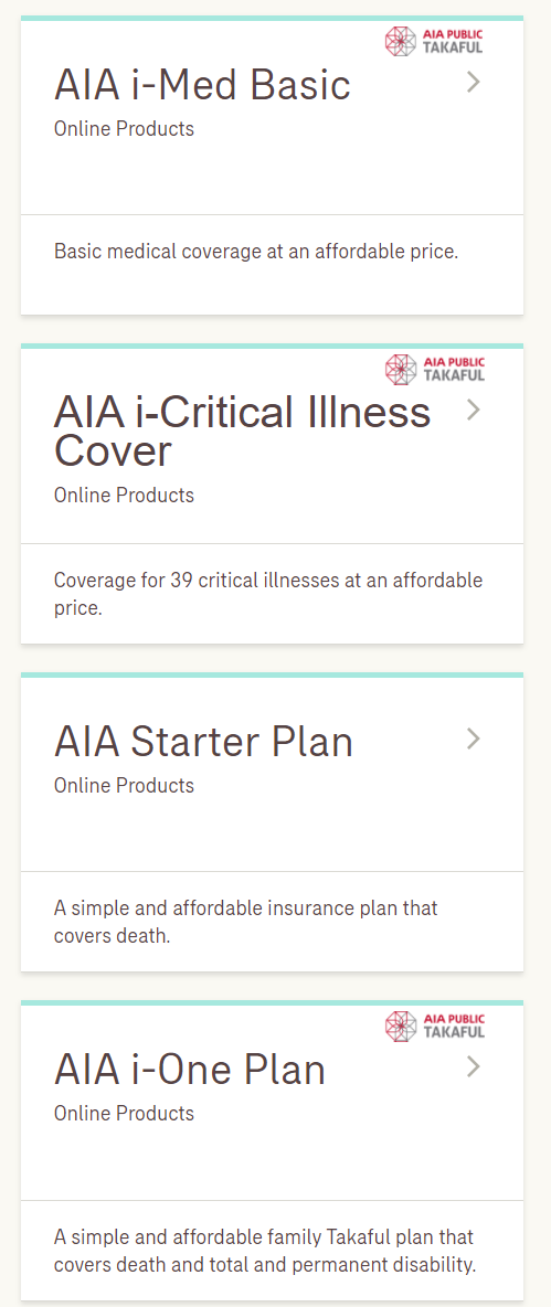 ONLINE INSURANCE PRODUCTS